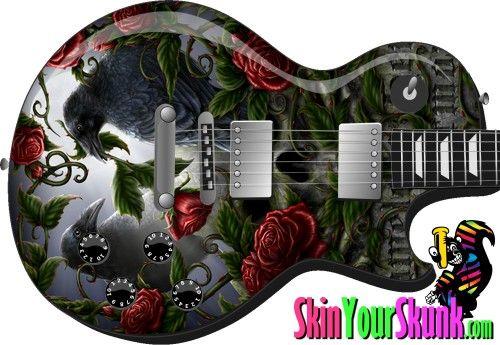 Guitar Skins For Electric Bass Acoustic Vinyl Wraps Decals Stickers Dragon Wings Vinyl Wrap Wraps