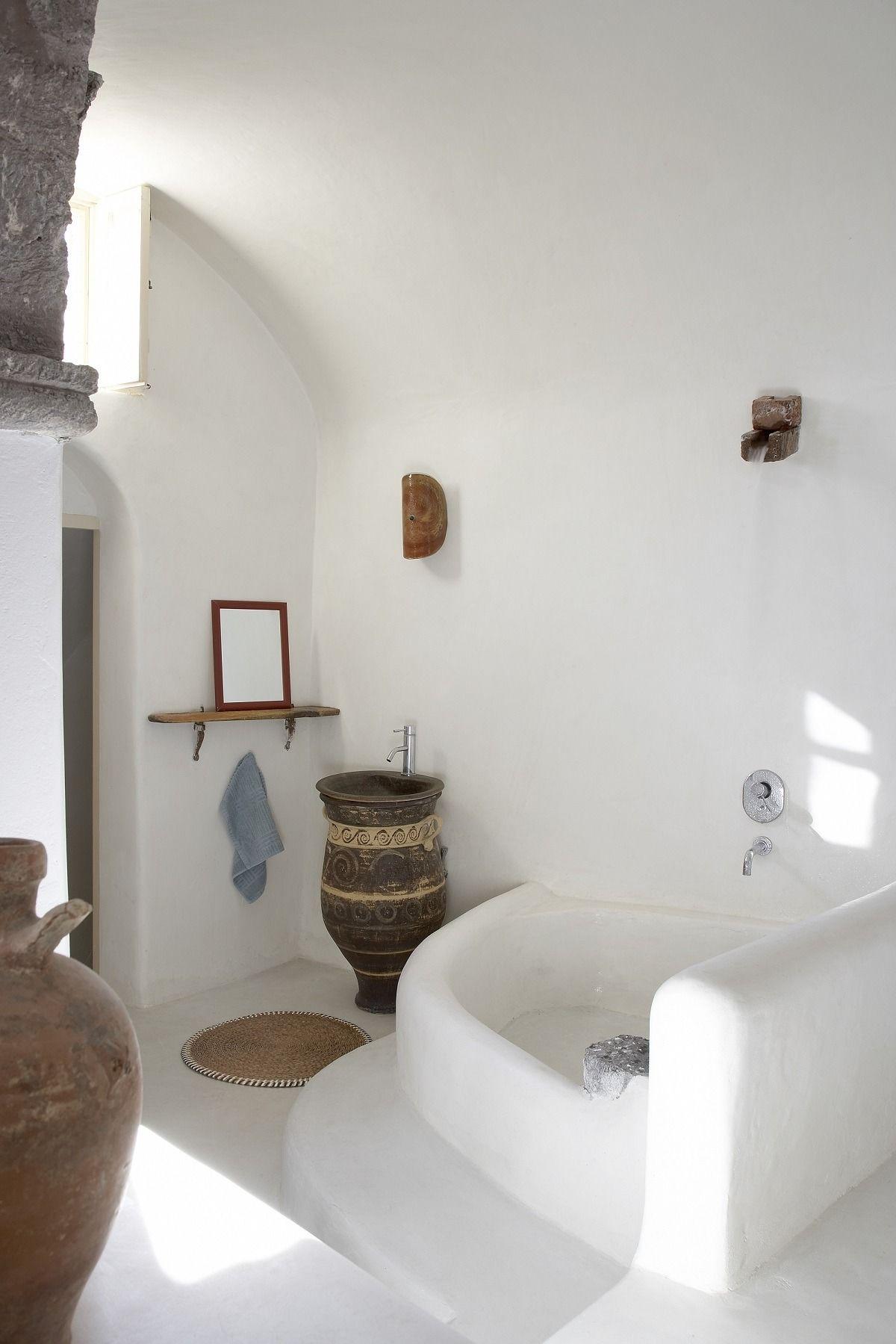 Traditional greek bathroom