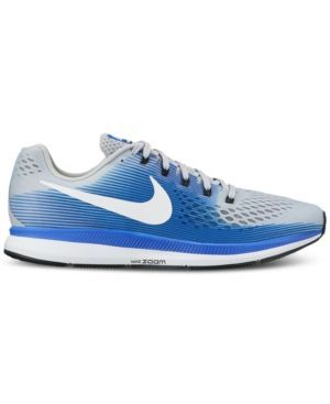 Nike Men 's Air Zoom Pegasus 34 Running Shoes (Wolf Grey/White/Racer Blue,  Size - Men's Running Shoes at Academy Sports