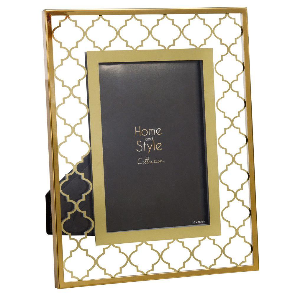 Cadre photo 10x15 en verre motifs dorés | Maisons du Monde | Home ...