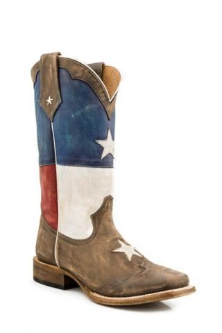 Red White And Blue Cowgirl Boots - Cr Boot