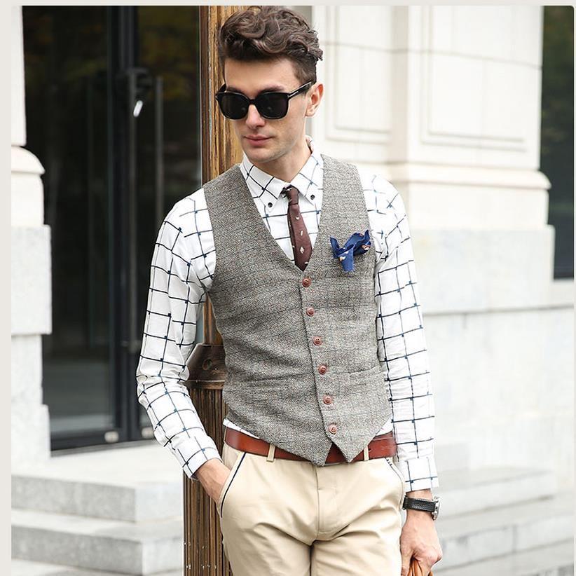 Find More Vests Information About Showersmile Brand Suit Vest Men