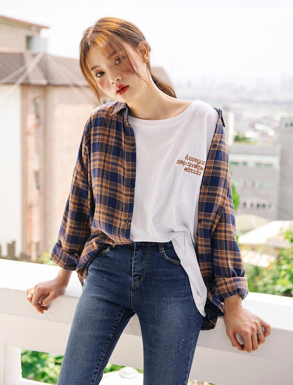 casual korean fashion 8 #casualkoreanfashion  Gaya model