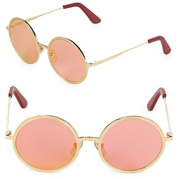 07e0c8fde Sunday Somewhere Women's 52MM Charlie Tinted Round Sunglasses ($80) ❤ liked  on Polyvore featuring