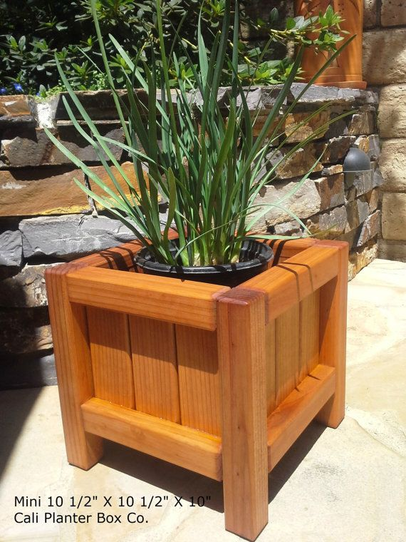 Redwood Patio Furniture Home Depot: Beautiful Solid Redwood Planter Boxes In 2019