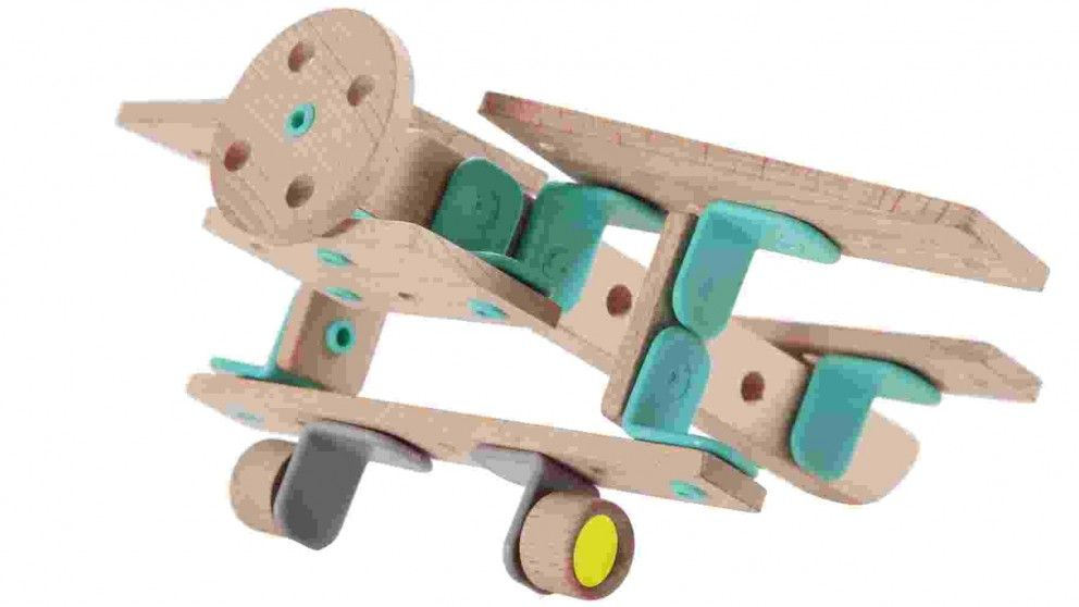 Classic Airplane Wooden Construction Kit - Wooden Toys - Preschool Toys - Toys, Kids & Baby | Harvey Norman Australia