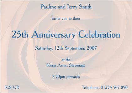 25th wedding anniversary invitations parents 30th anniversary 25th wedding anniversary invitations filmwisefo Image collections
