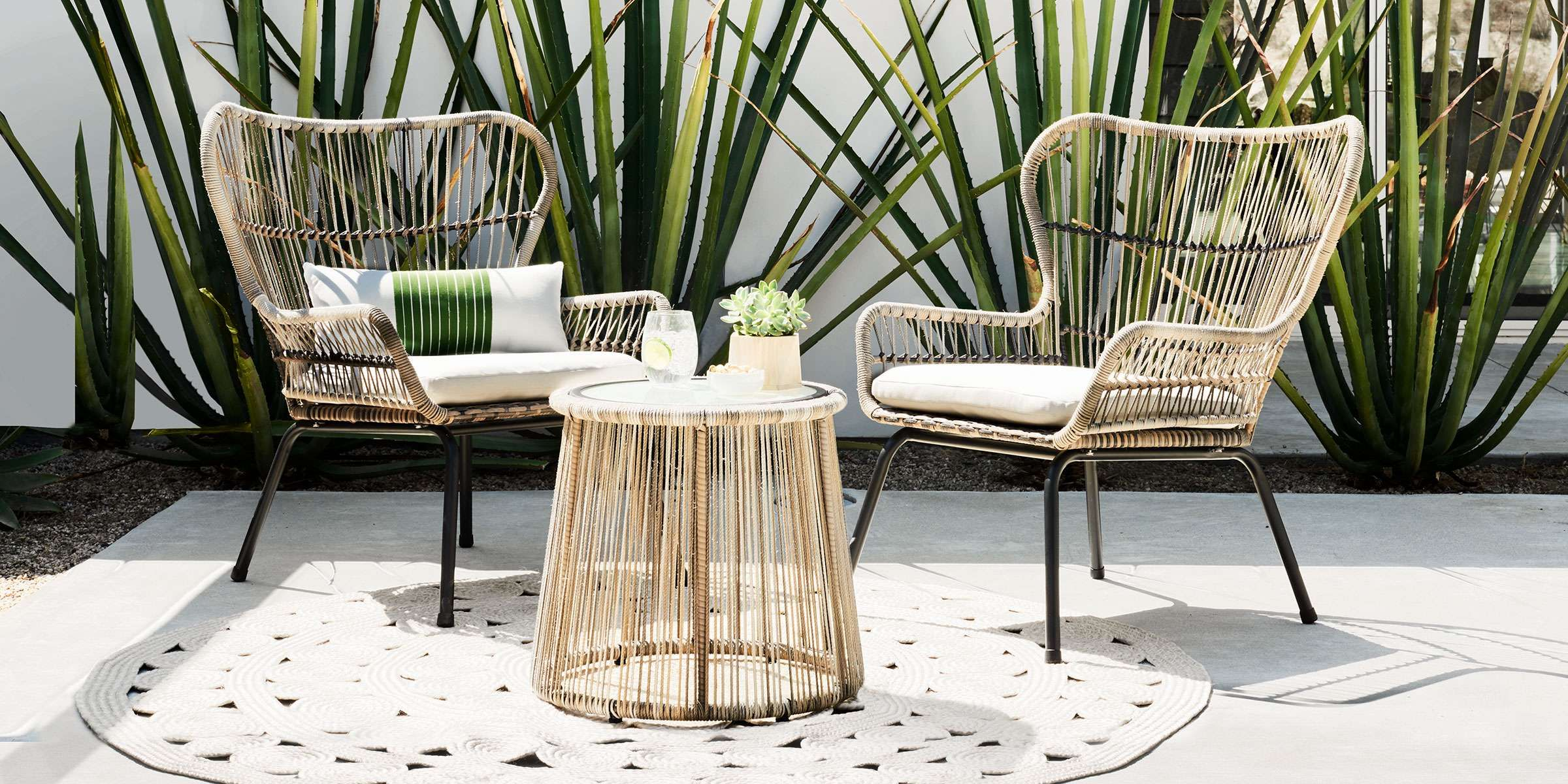 Small space patio set
