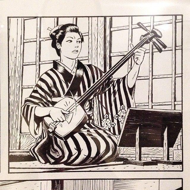 """Altra vignetta di Andrea Accardi, dalla sua seconda """"Storia"""" di samurai per Bonelli, in mostra a Bologna per NipPop 2015. #fumetti #comics #bonelli #bologna #nippop"""