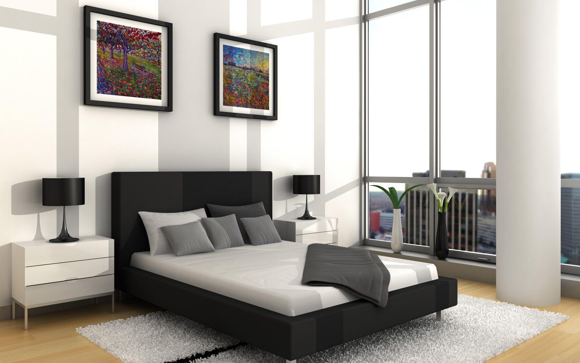 Chambre A Coucher Noir Et Blanc - Fashion Designs