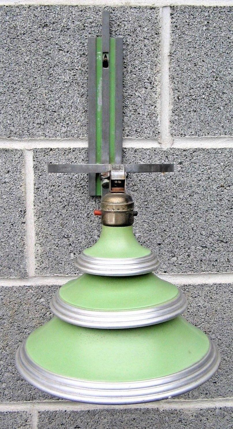 Vintage edward kent 1930s art deco lamp flip wall sconce machine age light part ebay