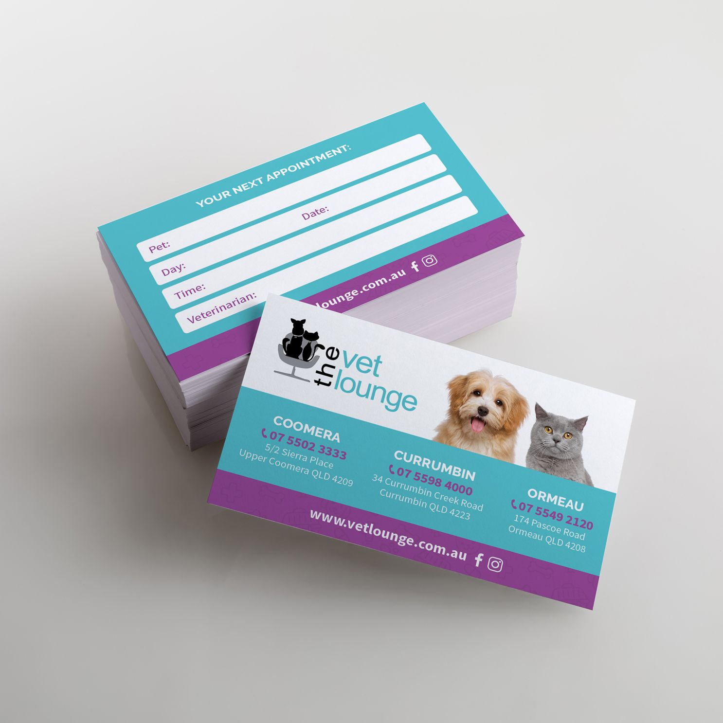 Business Card Design by Veterinary Branding for Gold Coast