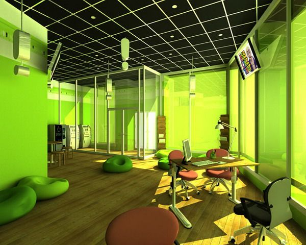 Green Office Color Decorating Office Color Schemes Office