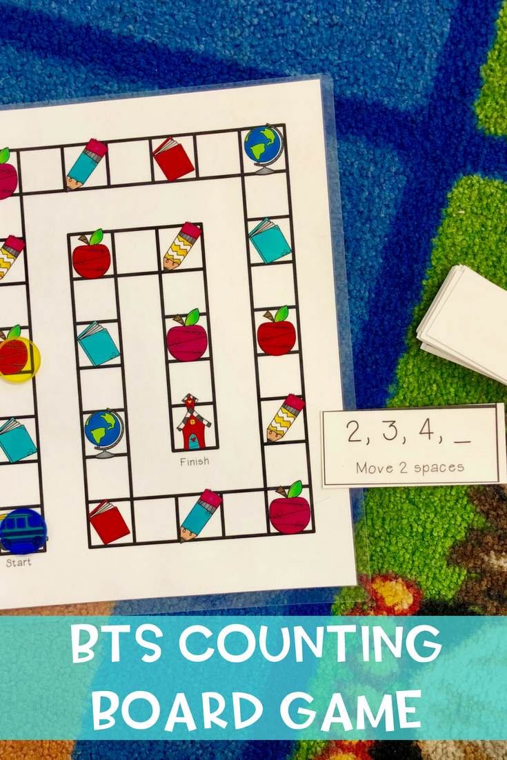 Counting Board Game Kindergarten math games, Math games