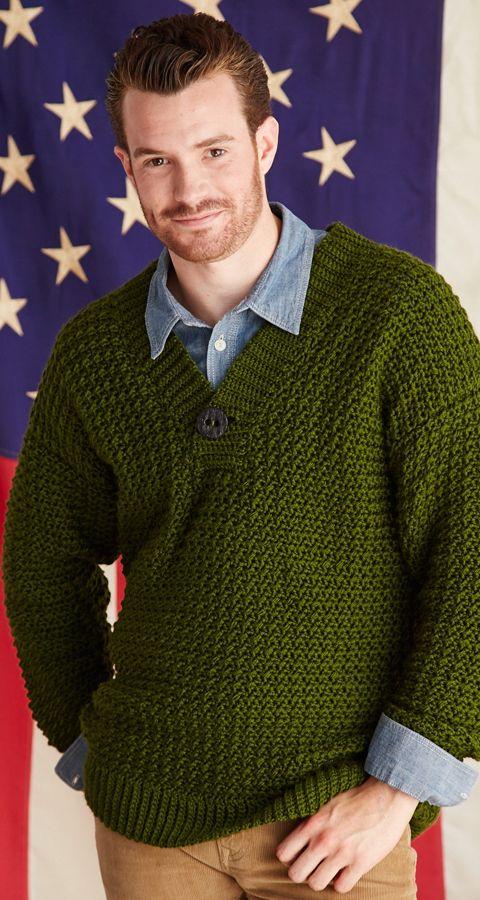 Iowa Sweater Crochet Today January 2014 Crochet Mens Sweaters