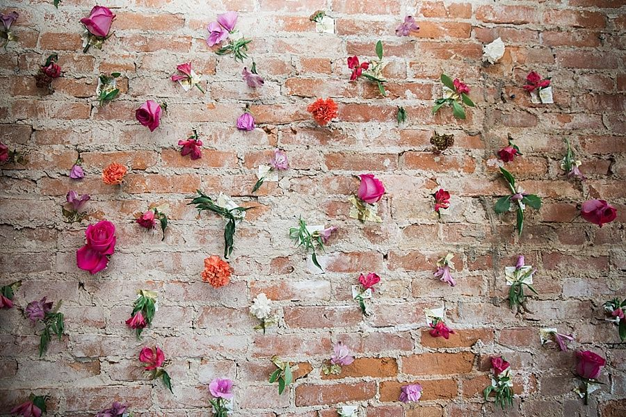 Brick Wall Backdrop Decorated With Flowers Brick Wall Backdrop Wall Backdrops Brick Backdrops