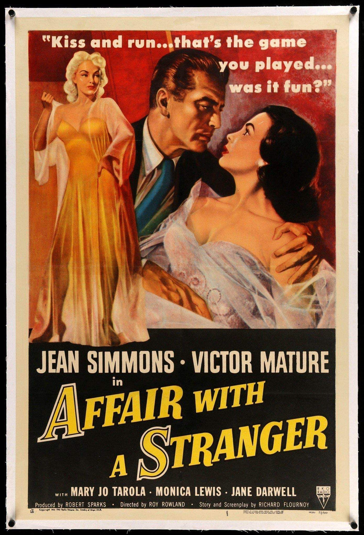 Affair with a Stranger (1953) in 2020 The stranger movie
