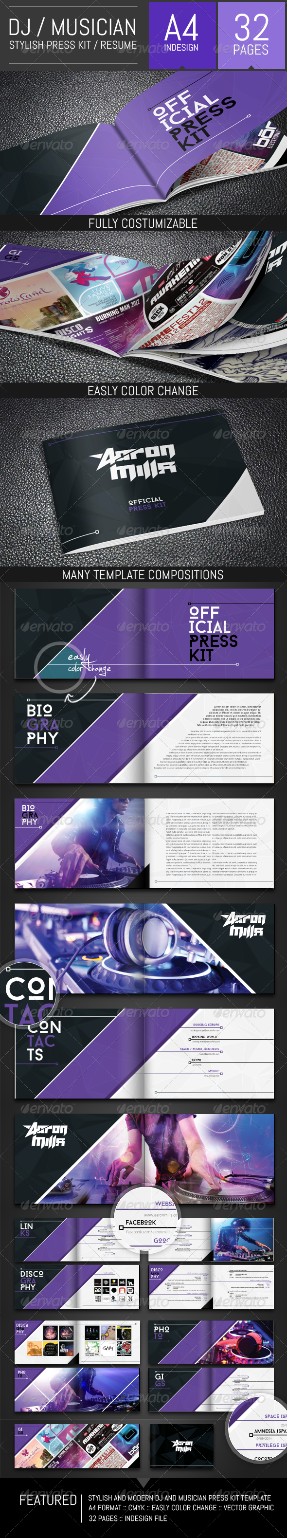 Musicians Resume Template Pleasing Dj And Musician Press Kit  Resume Template  Pinterest  Press Kits .