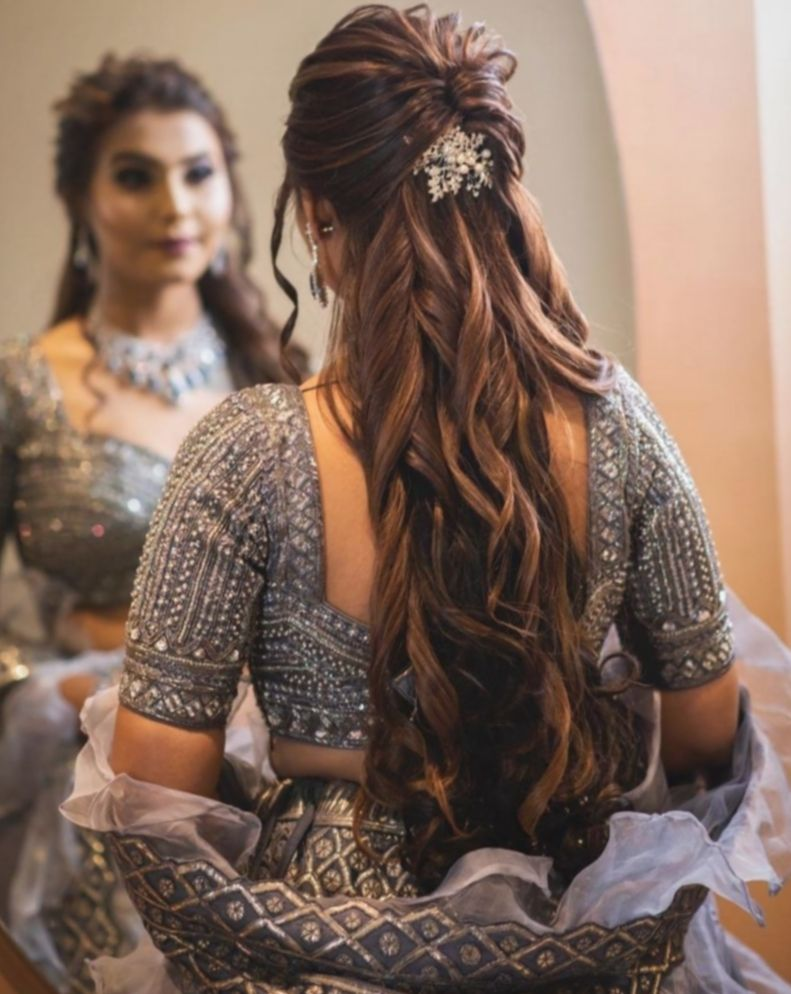 9 Hairstyles Wedding Indian Step By Step Engagement Hairstyles Indian Wedding Hairstyles Short Wedding Hair