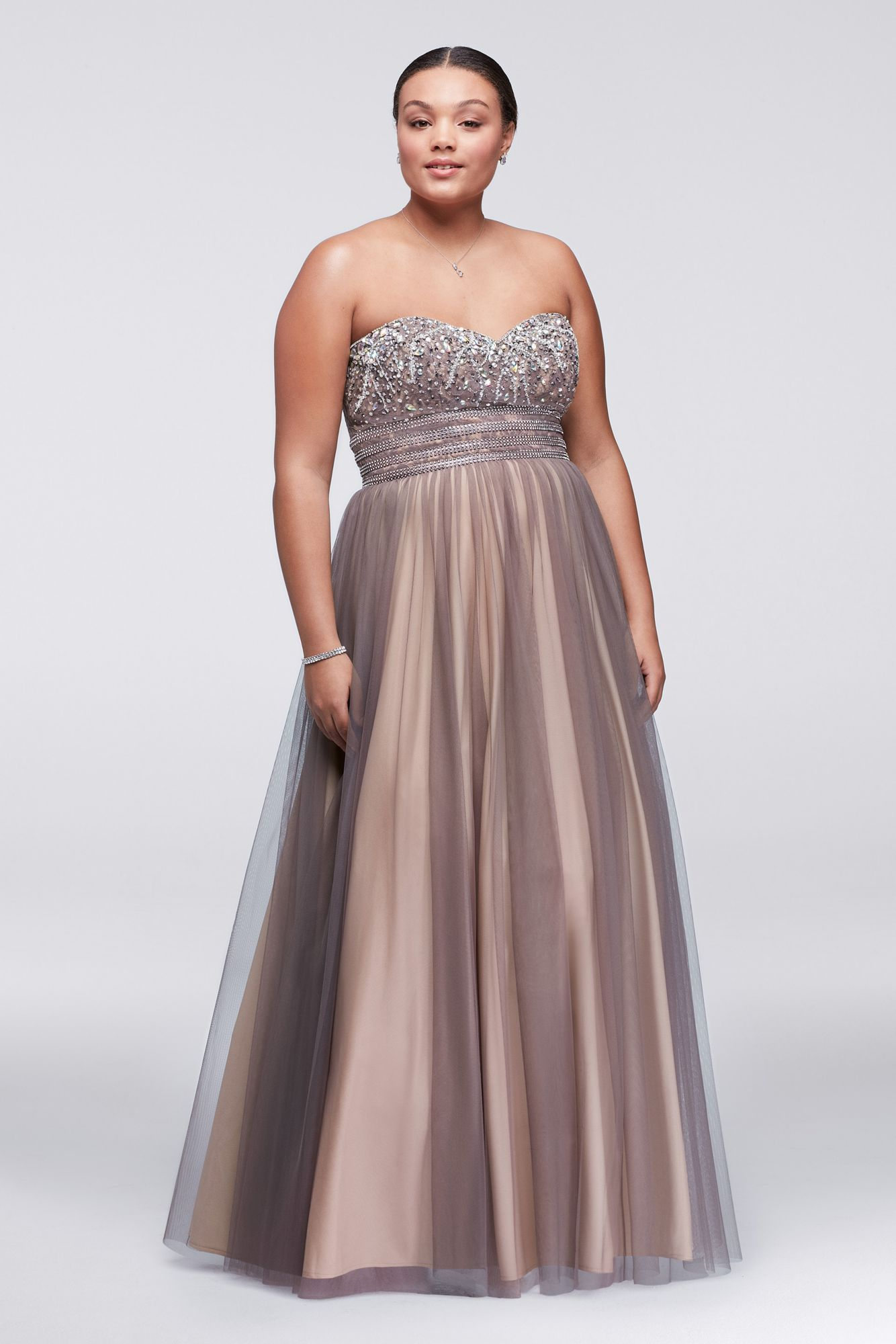 Halter top wedding dresses plus size  Plus Size Lace Up Floor Length Aline Ball Gown for Prom W