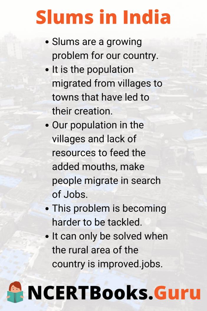 Slumsinindiaessay Essayonslumsinindia Ncertbooksguru Essay Short Slums India
