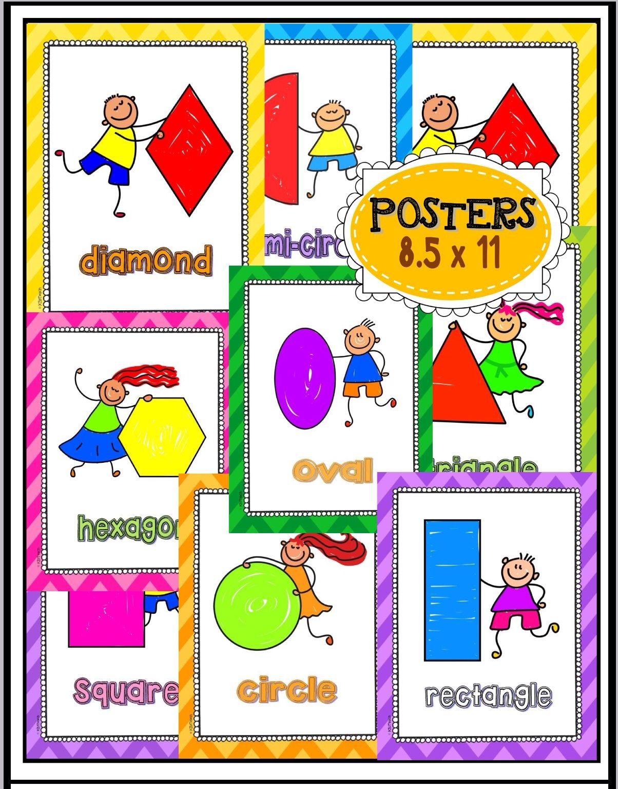 Shapes Posters Flashcards And Write Amp Wipe Cards K G A