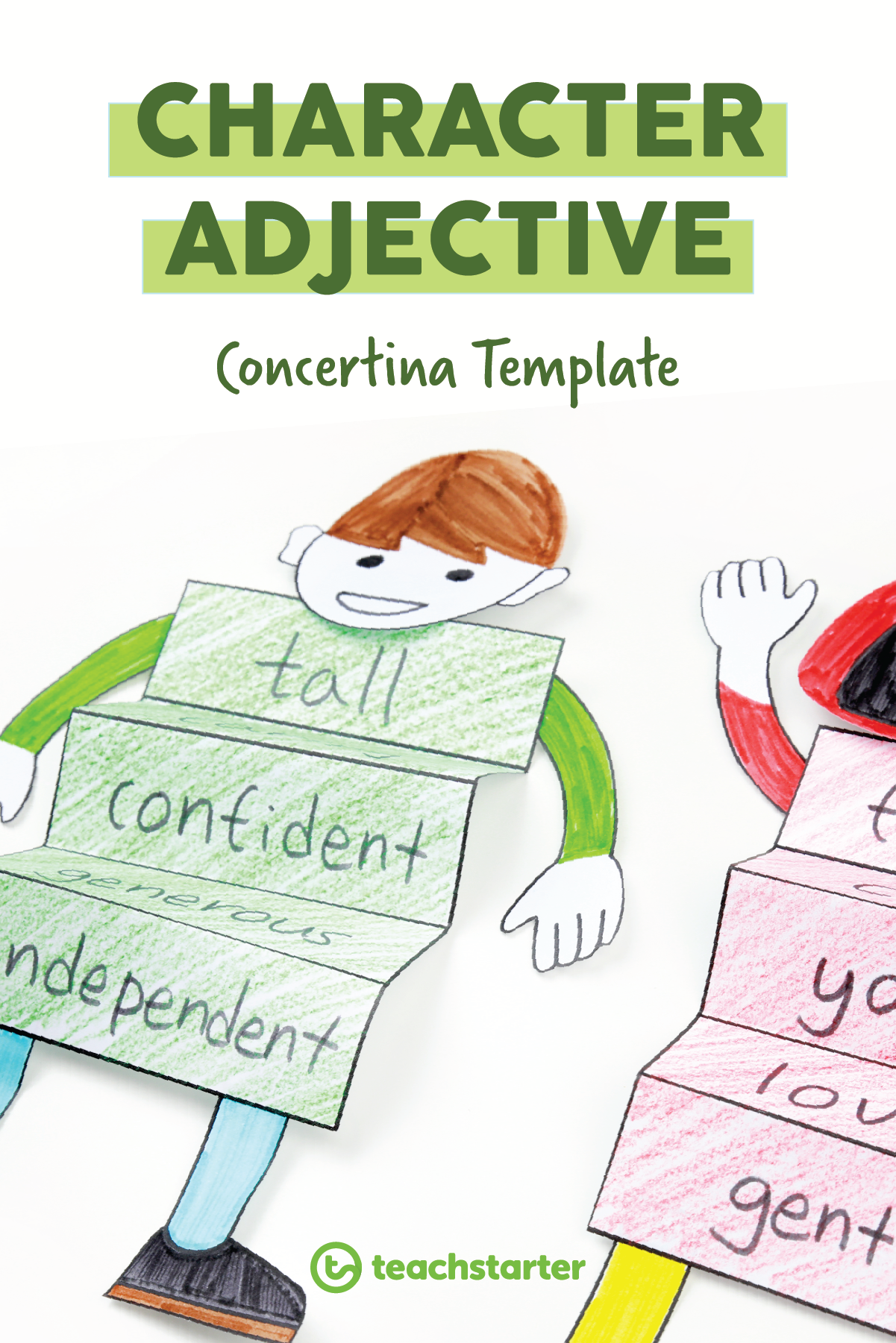 Character Adjective Accordion Template