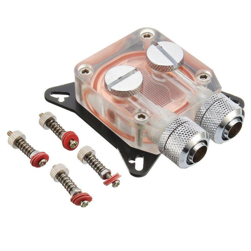 Pc gpu water cooling block copper 4 hole compression