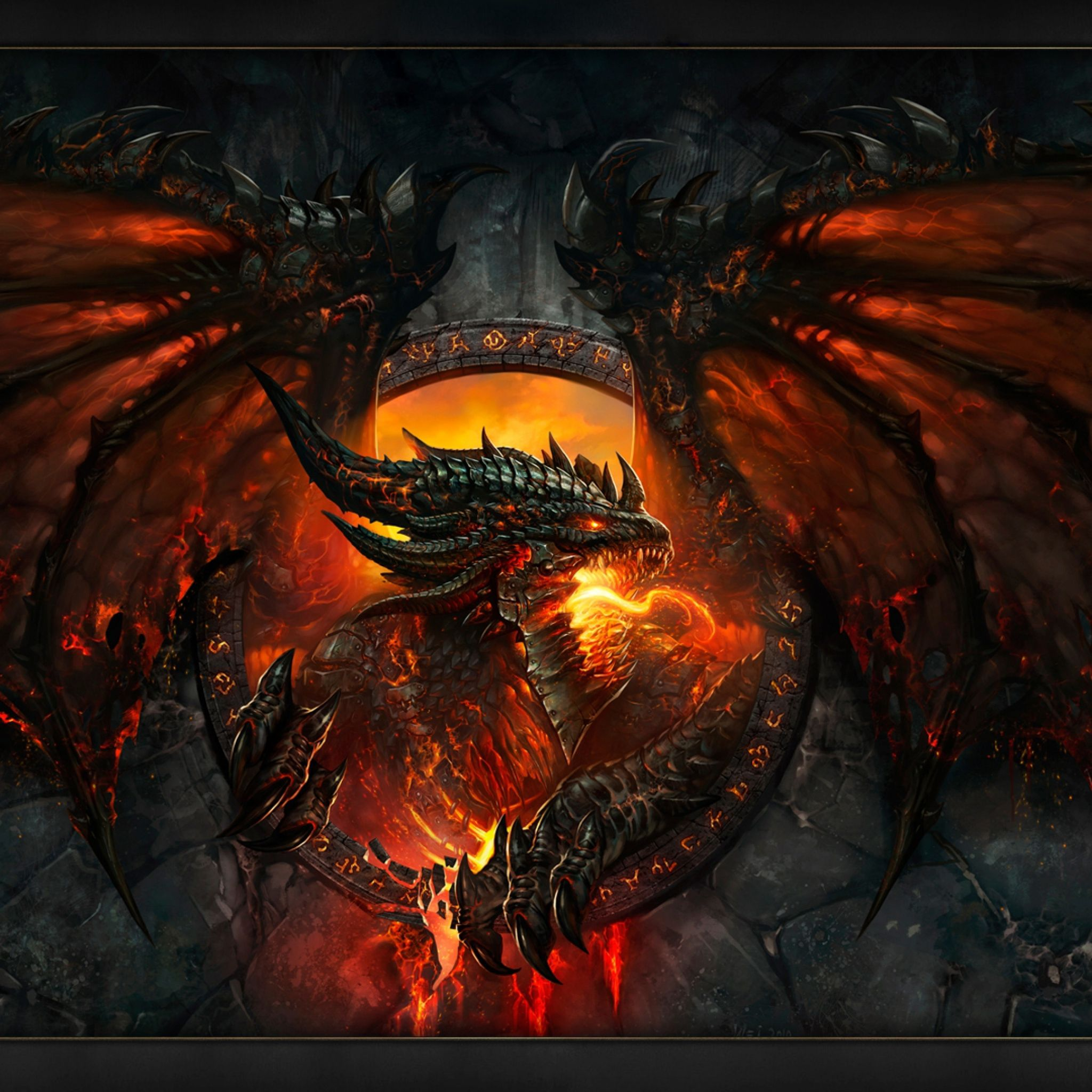 Warcraft Dragon - Tap to see more mighty dragon wallpapers ... for Fantasy World Art Dragon  568zmd