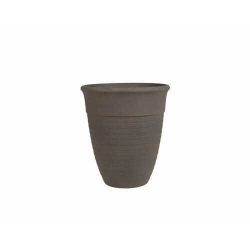 Katalima Stone Plant Pot Beliani Colour Brown Size 58 Cm H X 50 Cm W X 50 Cm D Stone Plant Plastic Barrel Planter Clay Plant Pots