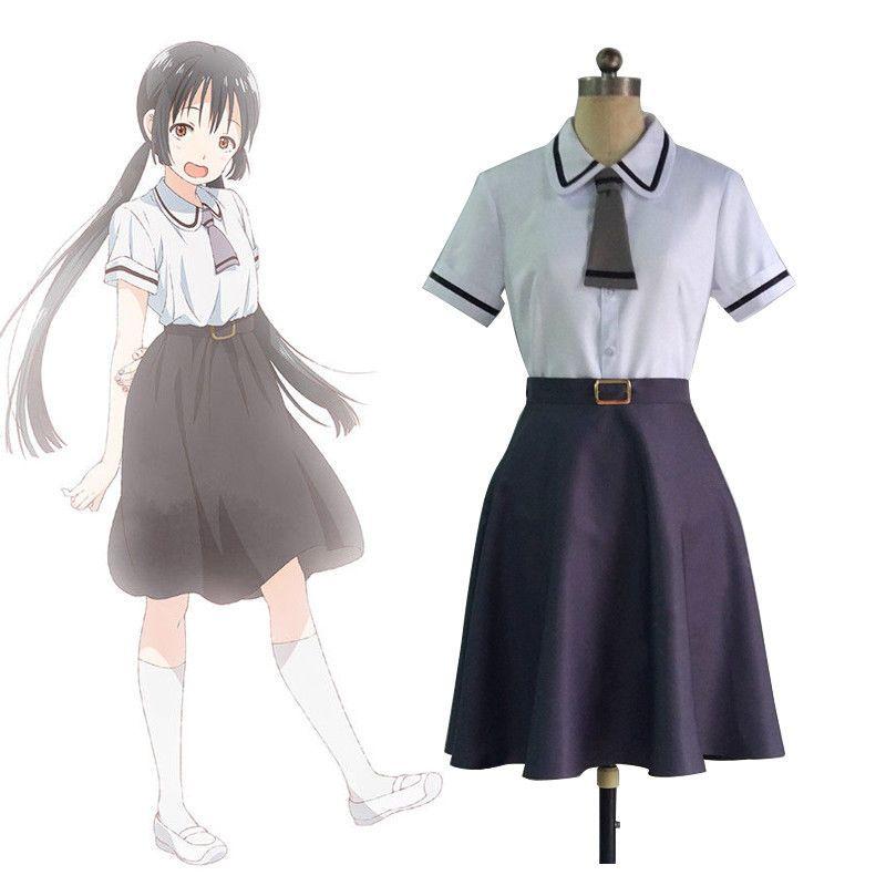 Asobi Asobase Cosplay Costume Sailor School Uniform Honda Hanako Olivia Kasumi