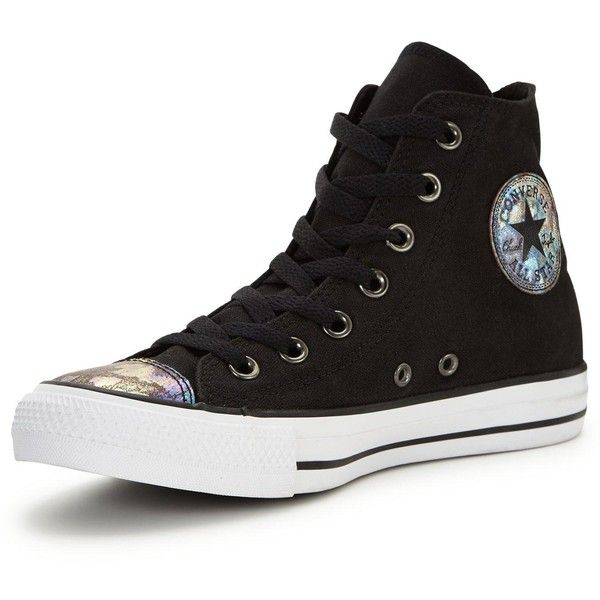 598ee023a391 Converse Chuck Taylor All Star Oil Slick Toe Cap Hi-Top Plimsoll (£55. Black  High ...