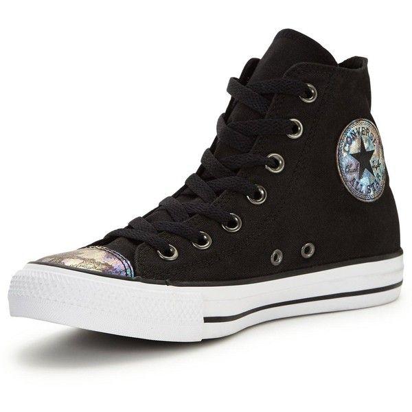 598ee023a391 Converse Chuck Taylor All Star Oil Slick Toe Cap Hi-Top Plimsoll (£55. Black  High ...