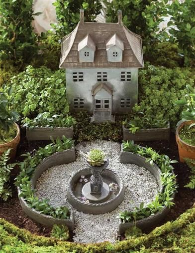 Miniature French Chateau Fairy Garden Kit With Images Fairy