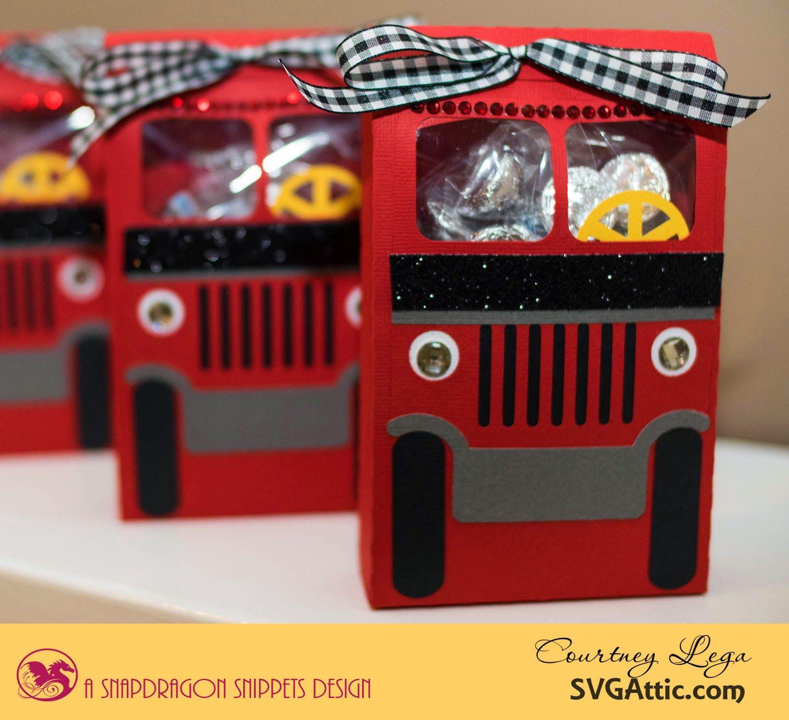 SVG Attic Blog Sound the Alarm Firetruck Treat Bags