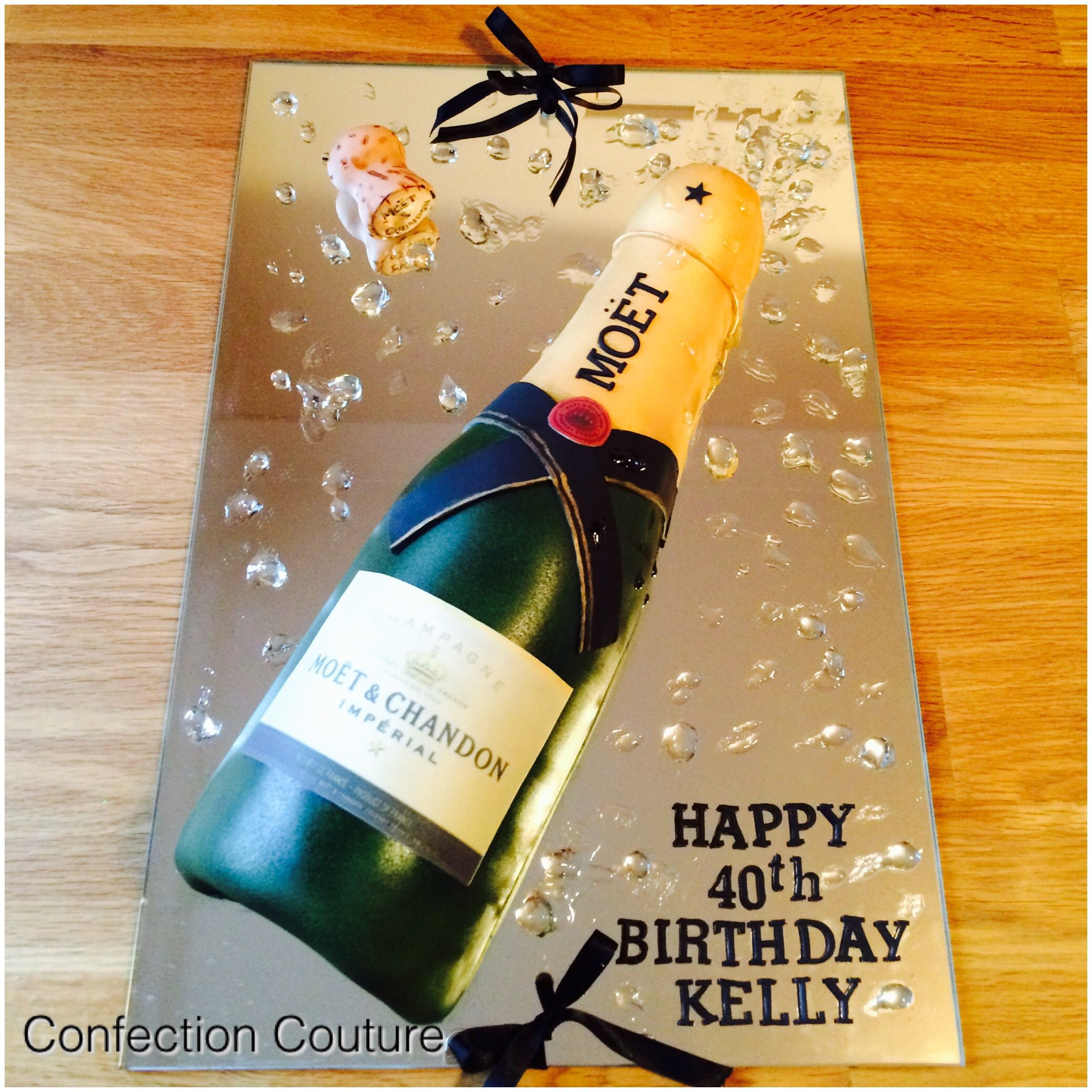 Mo 235 T Amp Chandon Champagne Bottle Cake My Obsession In 2019
