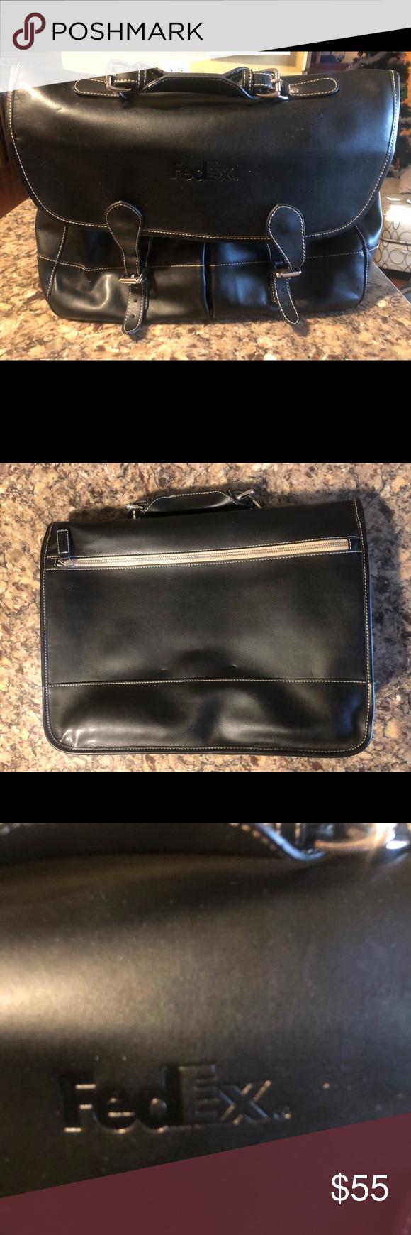 e517d7c1cef3 BARRINGTON Leather Laptop Messenger Bag FEDEX BARRINGTON Leather Laptop  Tablet Messenger Bag FEDEX Good condition with