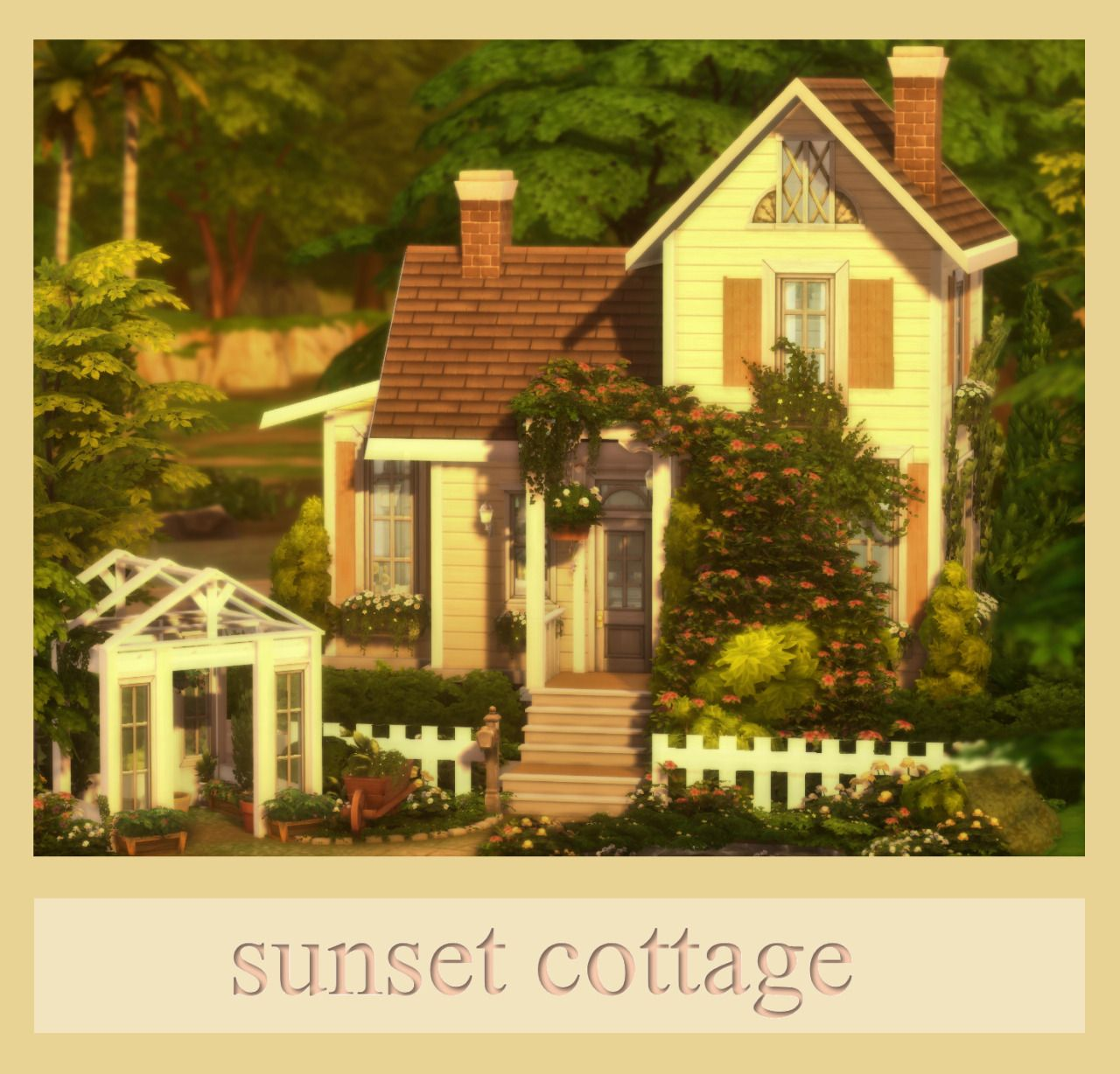 Sunset Cottage Sims House Sims House Plans Sims 4 House Design
