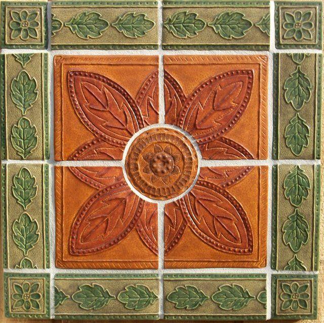 Modern High Relief Tile Mural By Far Ridge Ceramics Tile Murals Eclectic Tile Art Nouveau Tiles