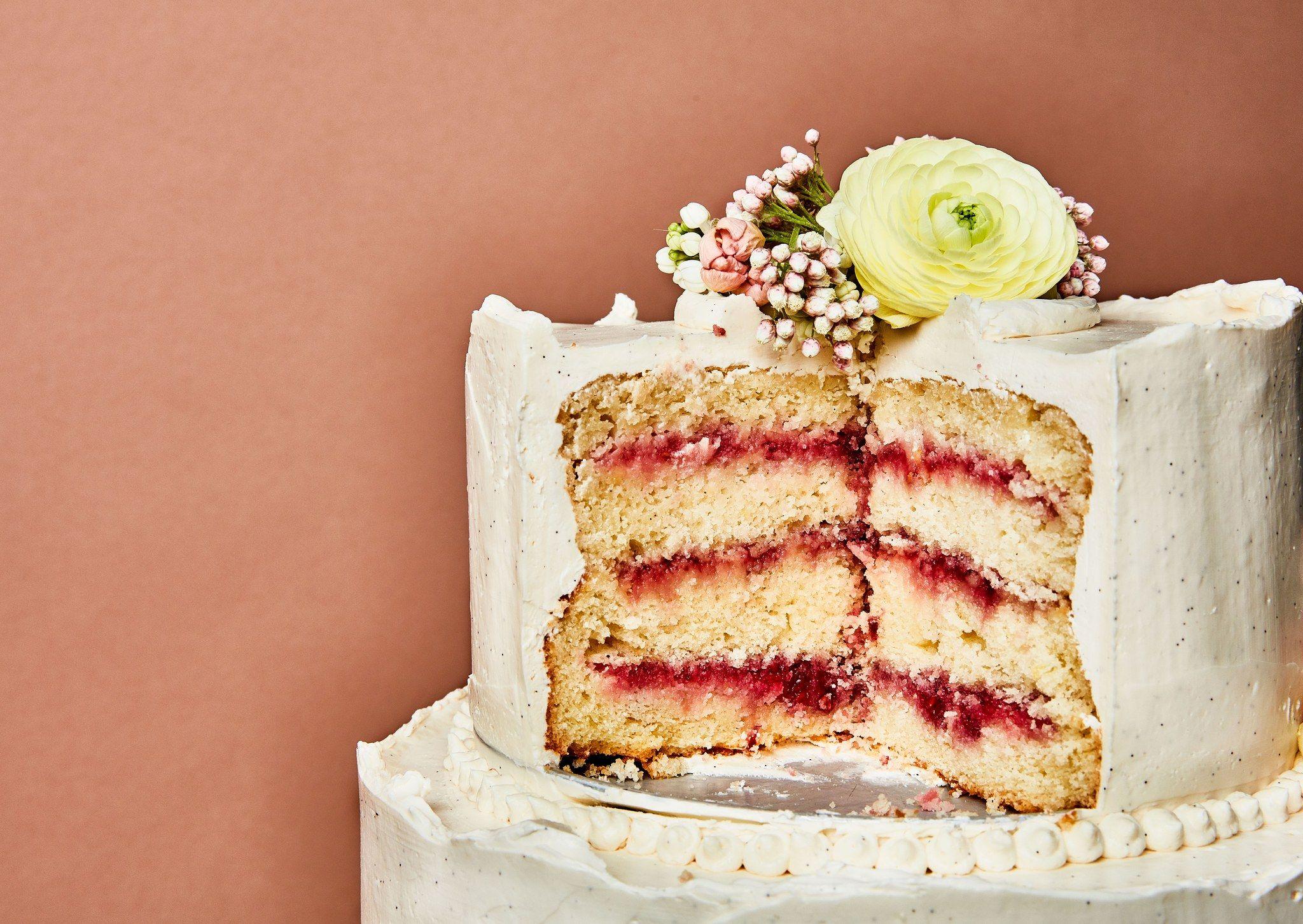 Lemon And Raspberry Wedding Cake With Vanilla Buttercream Recipe