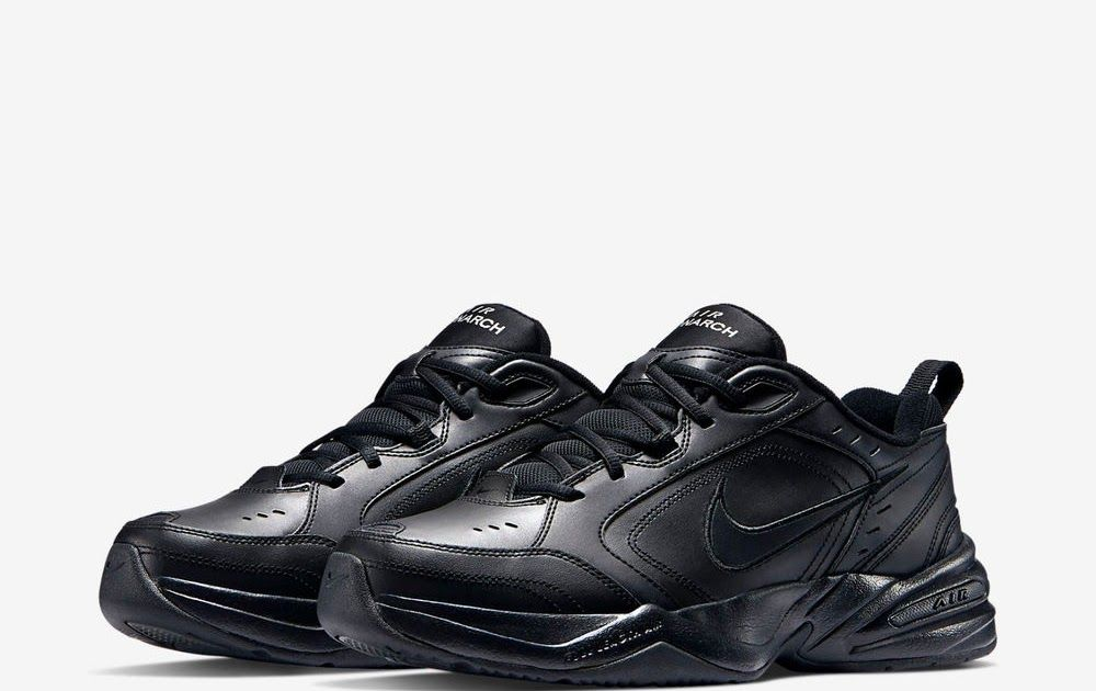 Nike Air Monarch Iv Black Navy Men S Cross Training Shoes Best