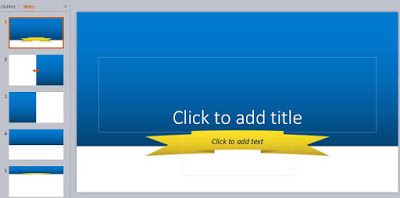 Blue Powerpoint Template Simple And Minimalist Ppt Free Download