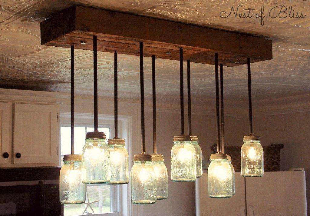 work it wednesday and features diy pinterest mason jar rh pinterest com Mason Jars into Lights Mason Jar Kitchen Light Fixtures