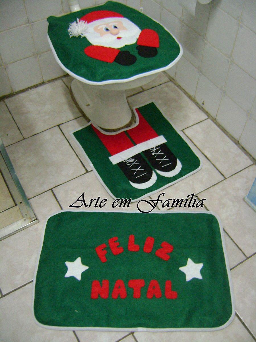 Jogo De Banheiro Natal Em Feltro