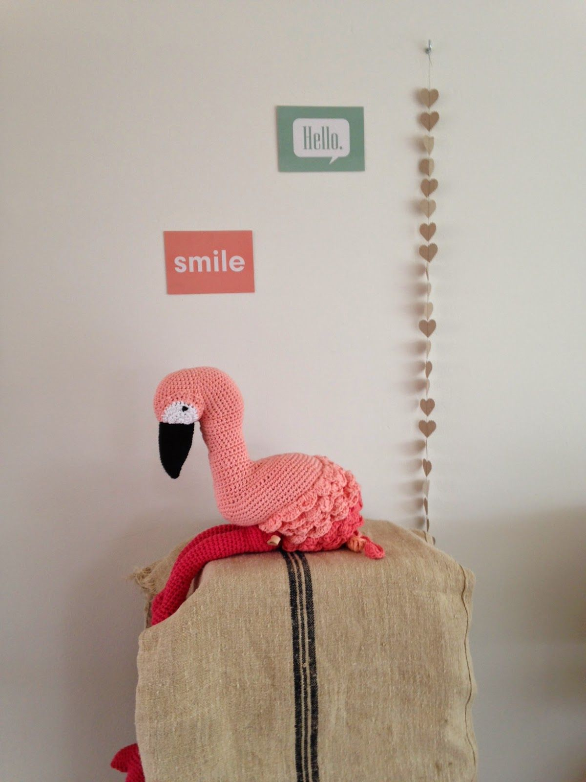 Let\'s do the flamingo! (draad en praat...) | Flamingo, Free pattern ...