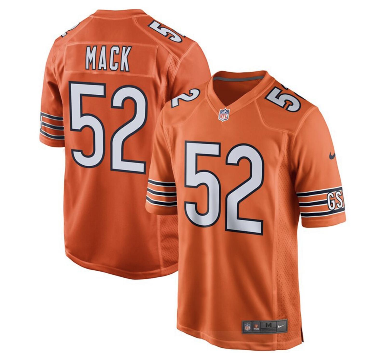 Khalil Mack Orange Youth Jersey Chicago Bears Chicago Bears Game Chicago Bears Jersey