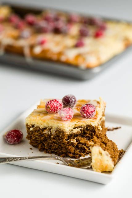 """I love cheesecake-topped brownies and black-bottom cupcakes, so I thought, """"Why not give gingerbread the same cheesecake treatment?"""" It turns out that cheesecake and gingerbread make a wonderful pair,"""