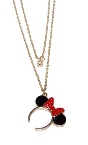 99be1bc89 Minnie Mouse Mickey Long Necklace   DISNEY BLING   Disney necklace ...