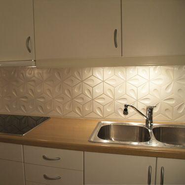 cr dence carrelage g om trique kitchen wall d co. Black Bedroom Furniture Sets. Home Design Ideas