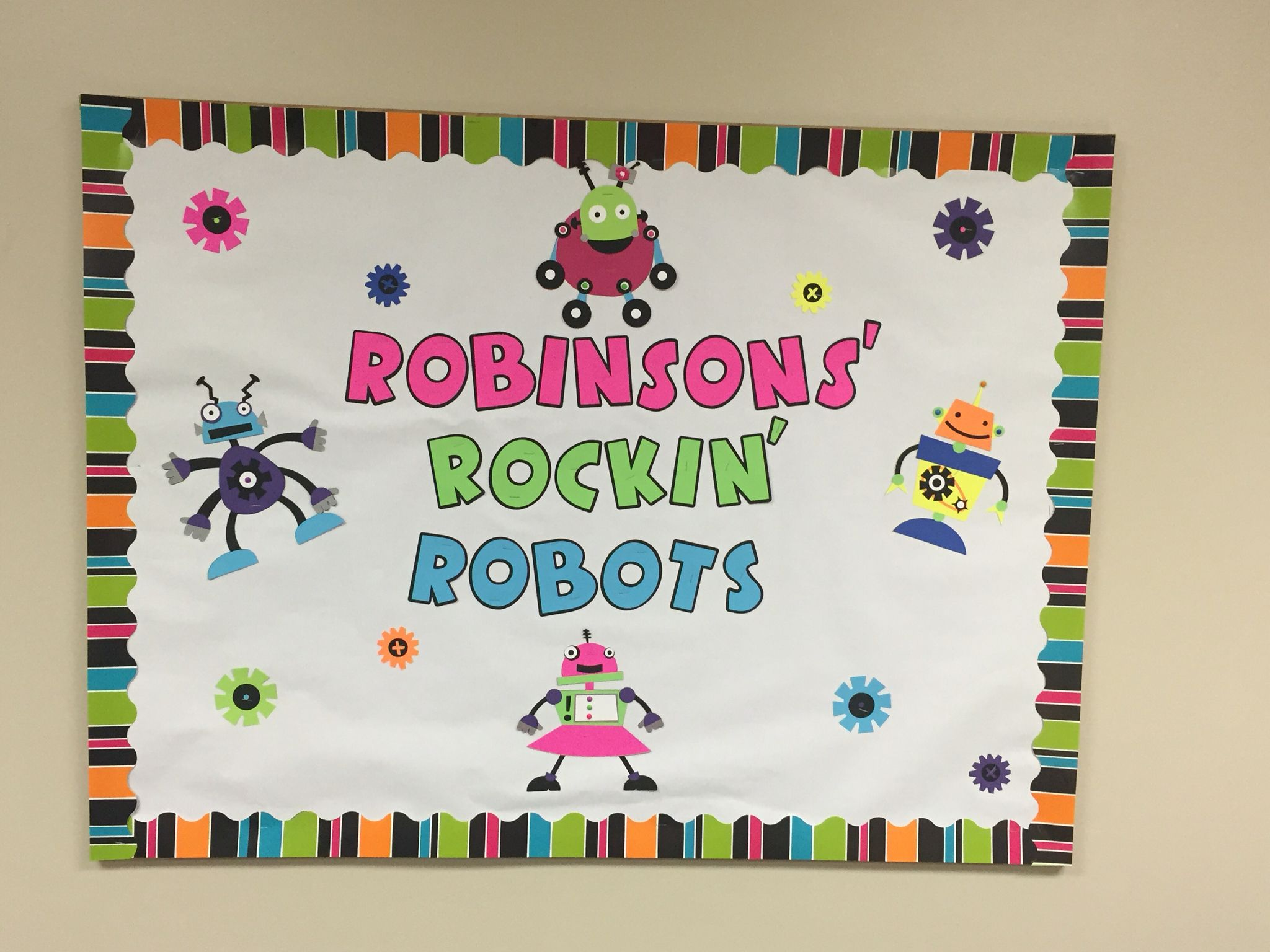 Robot Bulletin Board With Images